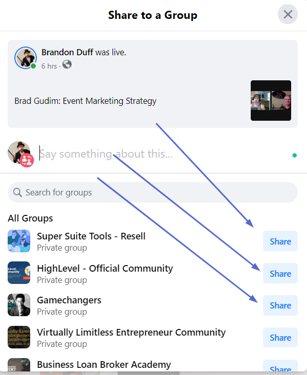 How To Get More Engagement On Facebook: Share To Groups
