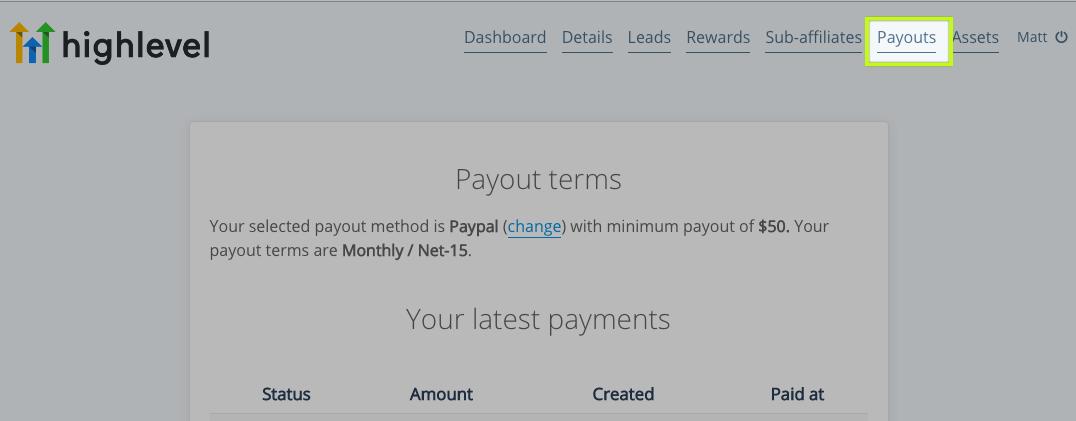 GoHighLevel Payouts